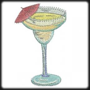 Koktél pohár hímzés 3
