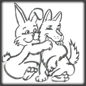 Nyuszi és  kutya