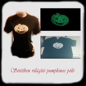 Sötétben világító pumpkinos póló