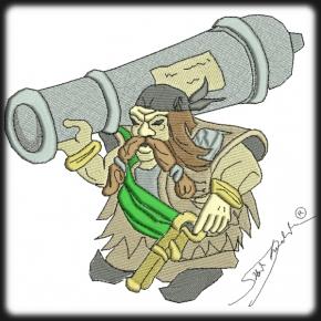 Viking törpe harcos hímzés 1