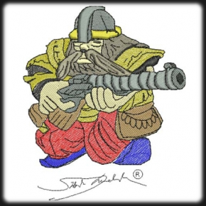 Viking törpe harcos hímzés 2