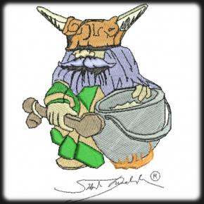 Viking törpe harcos hímzés 3