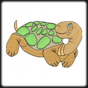 Teknős hímzés